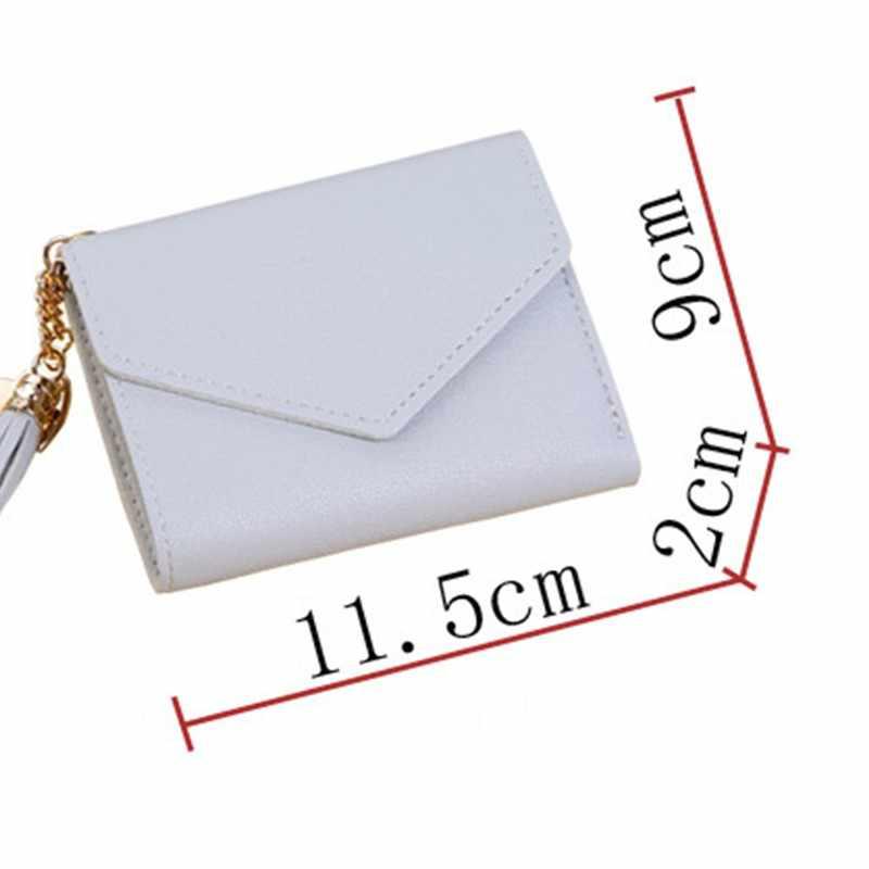 Venda quente Da Moda Curto Borla das Mulheres Carteiras Lady Mini Bolsa Da Moeda Bolsa de Cartão de Crédito Titular Do Cartão Carteira Feminina Femme carteira