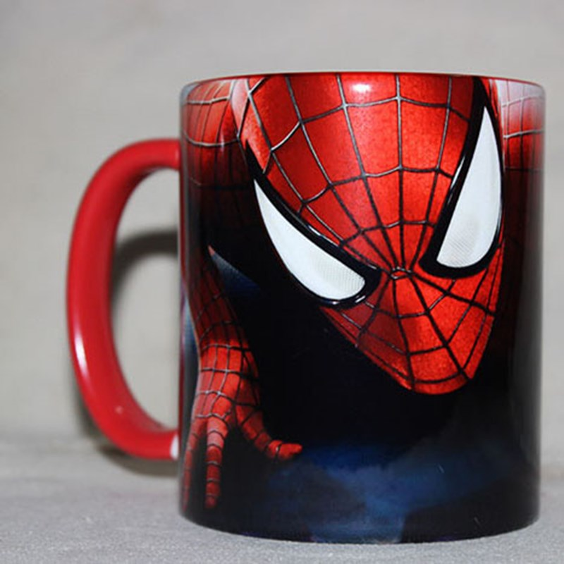 New Disney Spiderman Cartoon Water Cup Coffee Tea Milk Ceramic Mug Home Office Collection Cups Festival Student Cup Gifts