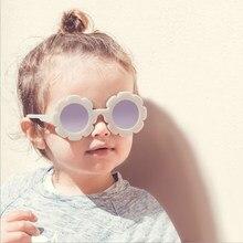 2020 novo sol flor redonda bonito crianças óculos de sol uv400 para meninas do menino criança adorável bebê óculos de sol crianças espelho gradiente