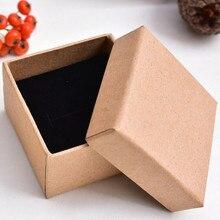 Подарочная коробка для ювелирных изделий на заказ с кожаной вставкой, бумажная коробка для ювелирных изделий из кожзаменителя- DH11780