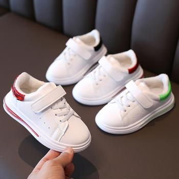Autumn Winter Children Plush Warm Casual Shoes Leather Comfortable Boys Girls Baby Sport Shoes Kids Sneakers Child White Shoes недорого