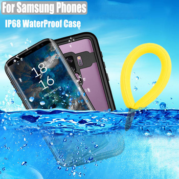 For Samsung Galaxy S20 S10 Plus S9 Plus Note 10 8 9 Waterproof Case Dot Series IP68 Diving Underwater PC + TPU Armor Cover S901
