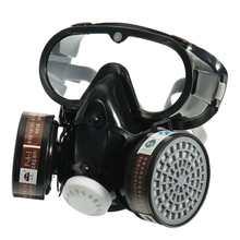 حماية السلامة كمامة منفسة تمنع نفاذ المواد الكيميائية PM2.5 قناع الوجه العين الأنف Pretection تنفس Vavle قناع درع الغاز للرجال والنساء