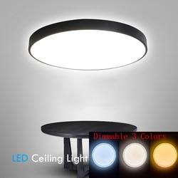 Plafonniers de LED Dimmable 48W 220V avec 3 couleurs réglables pour les plafonniers de cuisine de chambre à coucher pour l'éclairage de lumières de salon