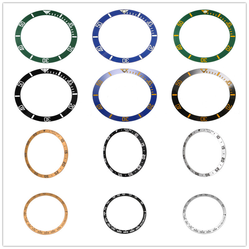 Different Models 38/42/46mm Ceramic Bezel Insert For 40mm Mens Watch Watches Replace Accessories Watch Face Watch Bezel Inserts