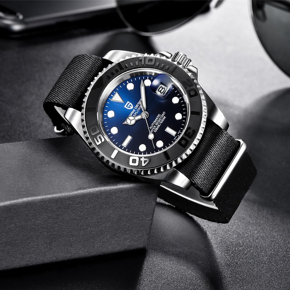 PAGANI Design Men Automatic Watch Fashion Luxury Mechanical Wristwatch Stainless Steel Waterproof Watch men relogio masculino