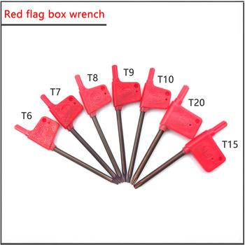 T6 T7 T8 T9 T10 T15 T20 najwyższa jakość T klucz czerwona flaga płyta klucz pudełko klucz końcowy gwiazda klucz sześciokątny nóż klucz tanie i dobre opinie Hand Tool Parts CN (pochodzenie) Stal wysokowęglowa Do produkcji komercyjnej