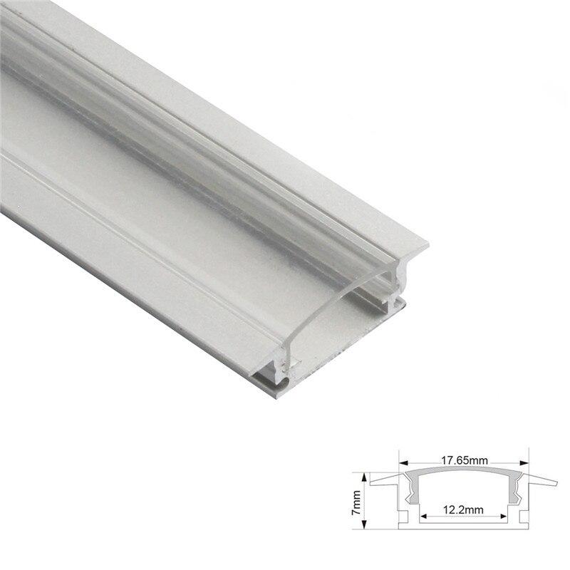 Image 3 - 1set 50cm LED Bar Lights Aluminium Profile Transparent Cover U/V/YW Style Shaped for LED Strip Light Parts-in LED Bar Lights from Lights & Lighting