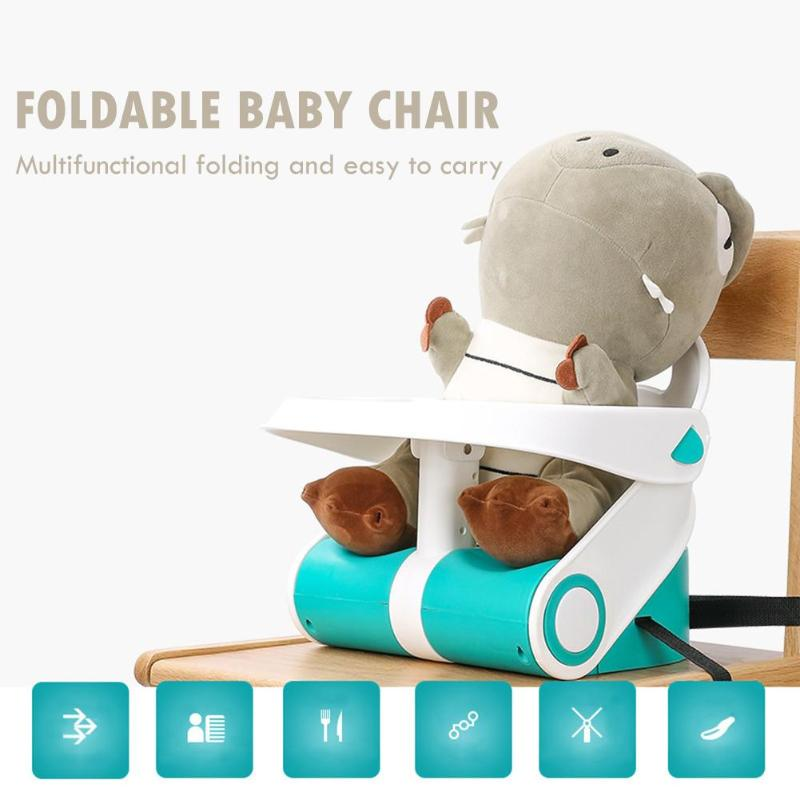 Portable Infant Seat Adjustable Baby Dining Chair Environmental Protection PP And Nylon Strap Dinner Feeding Chair For Children