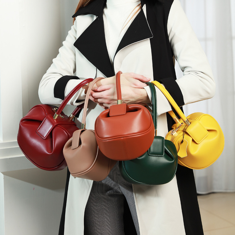 New Women Handbag Luxury And Designer Longchamp Genuine Leather Bag Female Matte Purses Dumpling Bag Messenger Hobos Totes