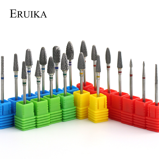 28 Types Tungsten Blue Rainbow Carbide Nail Drill Bit Electric Nail Mills Cutter for Manicure Machine Nail Files Accessories 1
