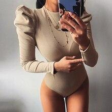 2020 New O-neck Long Pull Sleeve Body Suit Femme Elegant Women Bodysuits Bodycon