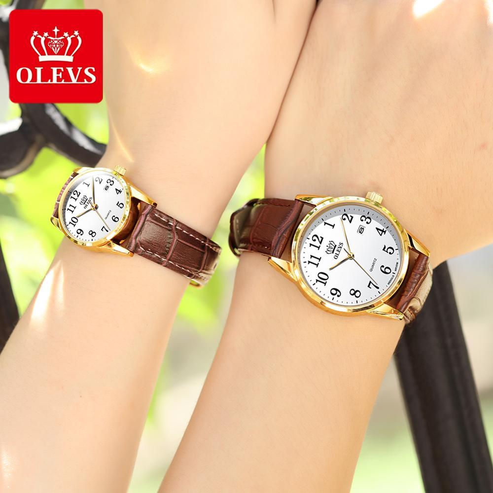 Couple Watch Simple Style Digital Dial Fashion 2020 Relojes Black Golden Sublimation Blanks Couples Bracelet Watches