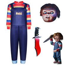 Chucky Cosplay Costume Ghost Halloween Kids for Back-To-Soul-Doll of Full-Set Baby Children's