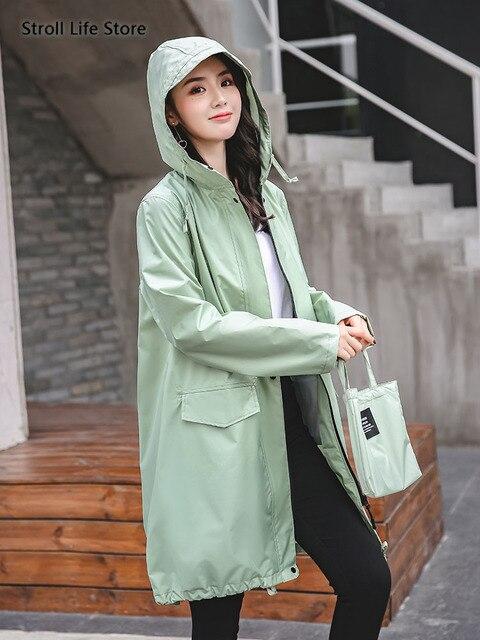 Long Adult Rain Coat Women Waterproof Suit Rain Poncho Outdoor Hiking Windbreaker Yellow Raincoat Jacket Gabardina Mujer Gift 4