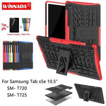 For Samsung GALAXY Tab S5e T720 case 10.5 inch SM- T720 T725 Armor case Tablet Silicone TPU+PC Shockproof Stand Cover +pen+Film for fire7 2019 armor case 7 0 inch tablet hand held strap silicone tpu pc shockproof stand cover case for amazon kindle fire 7 2019