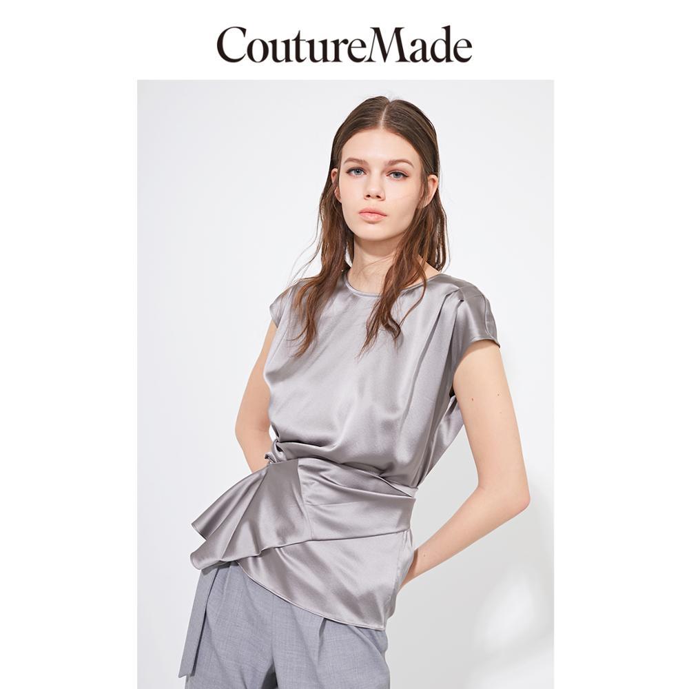 Vero Moda CoutureMade Women's OL Mulberry Silk Chiffon Shirt | 319241506