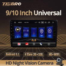 TIEBRO IPS 2 Din Android 9,0 coche Universal Radio GPS Navi coche Multimedia reproductor de Video BT 4G Wifi estéreo para coche de Audio reproductor de DVD(China)