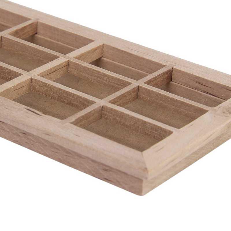 خشبي تقليدي 12 جزء اطار النافذة 1:12 مقياس دمية مصغرة