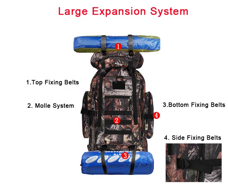 XL Tactical Backpack Molle System Integrated