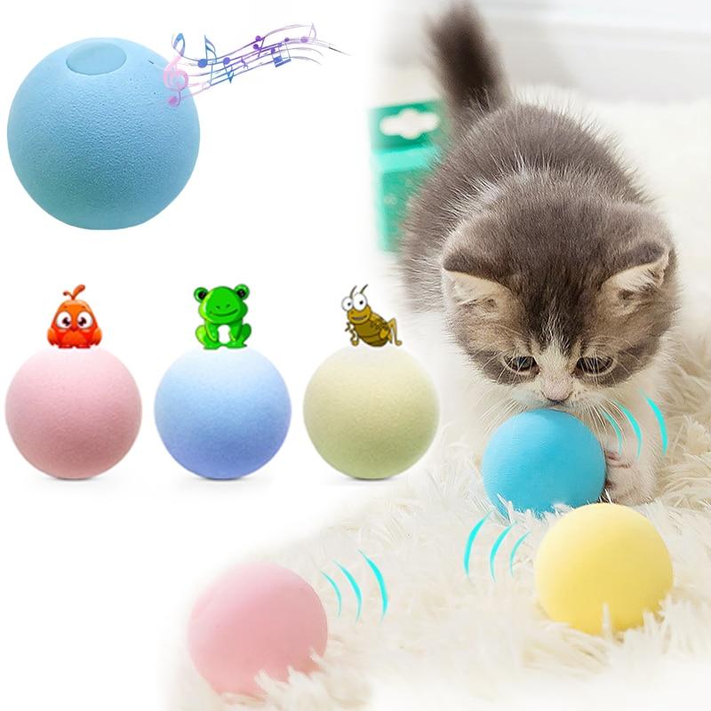 Умные игрушки для кошек, интерактивный мяч, кошачья мята, игрушка для тренировки питомца 1