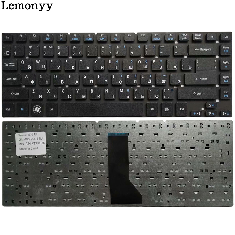 Russian NEW Keyboard For Acer Aspire 3830 3830G 3830T 3830TG 4830 4830G 4830T 4830TG V3-471 RU Black Keyboard