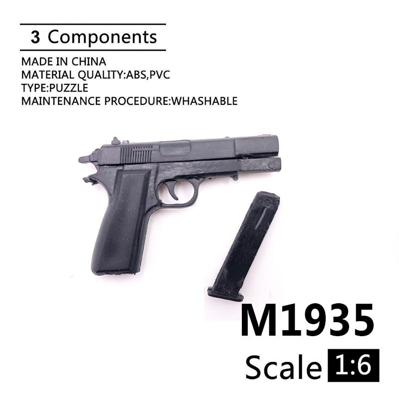 1:6 M1935 Gun Model 4D Assemble Model For 12