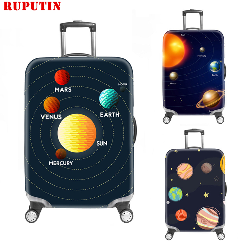 New Space Travel Suitcase Protective Case Dust-proof And Scratch-resistant Elastic Box Cover Thicker 3D Trolley Case Dust Cover