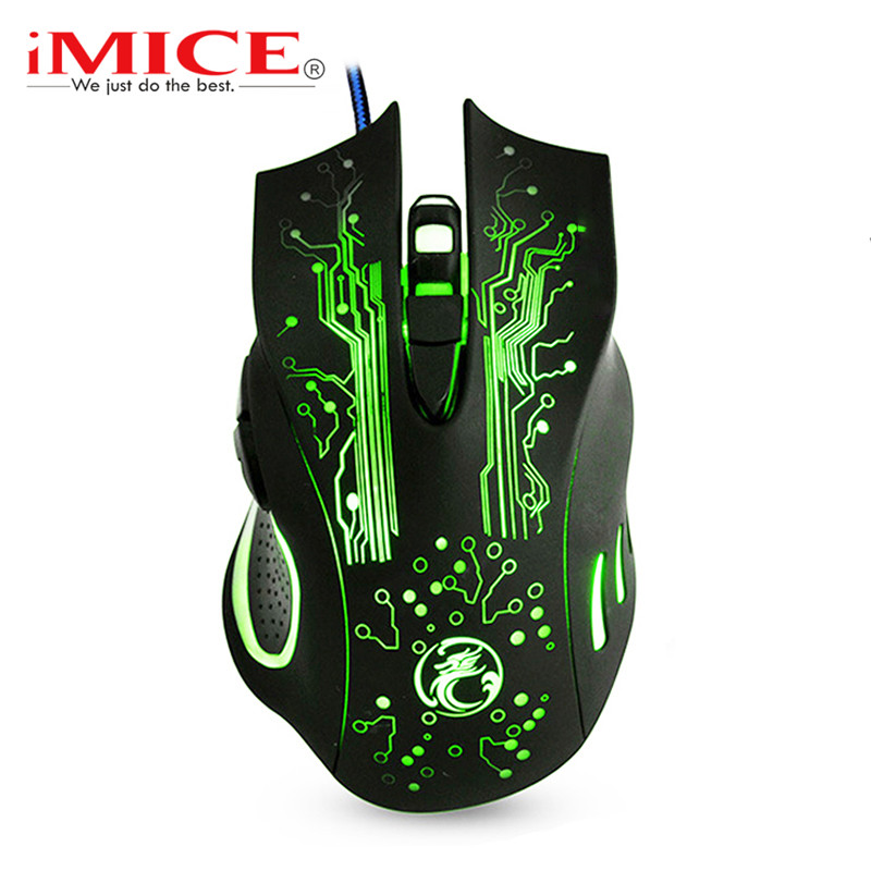 Wired Gaming Maus <font><b>RGB</b></font> Computer Maus Gamer USB Ergonomische Mause PC Stille Maus Gaming 7 Taste Mit Kabel LED Backlit spiel Mäuse image