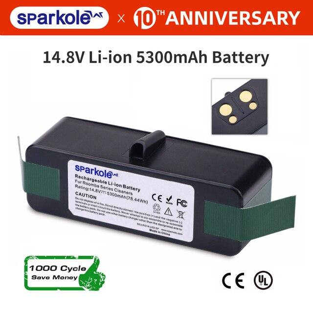 5.3 Ah 14.8V Li Ion Batterij Voor Irobot Roomba 500 600 700 800 Serie 510 530 550 560 580 620 630 650 760 770 780 790 870 880 R3-in Stofzuigeronderdelen van Huishoudelijk Apparatuur op