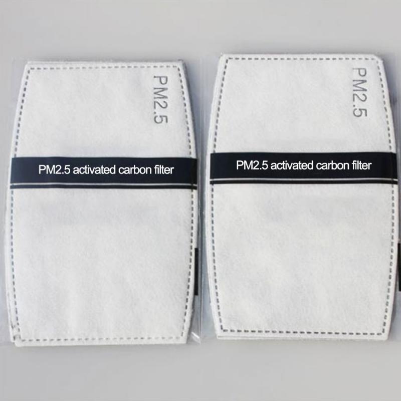100pcs PM2.5 Cotton Filter Paper Dustproof Anti-Haze Mouth Mask Activated Carbon Non-woven Mouth Mask Filter Paper