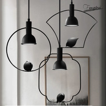 Modern Wrought Iron LED Pendant Lights Nordic Minimalist Creative Bird Restaurant Hotel Bedroom Study Lamps