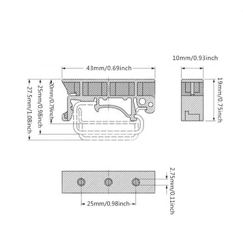 PCB 35mm montaż na szynie din Adapter obwód drukowany uchwyt wspornika klipsy nośne