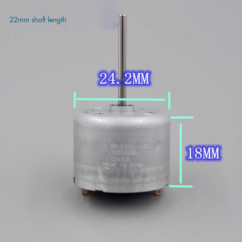 RF310 Micro Mute Motor de CC de baja velocidad gran Torque turbina de viento Motor Solar 0,8 V-12 V diámetro del eje 2mm Longitud del eje 6, 9 22mm