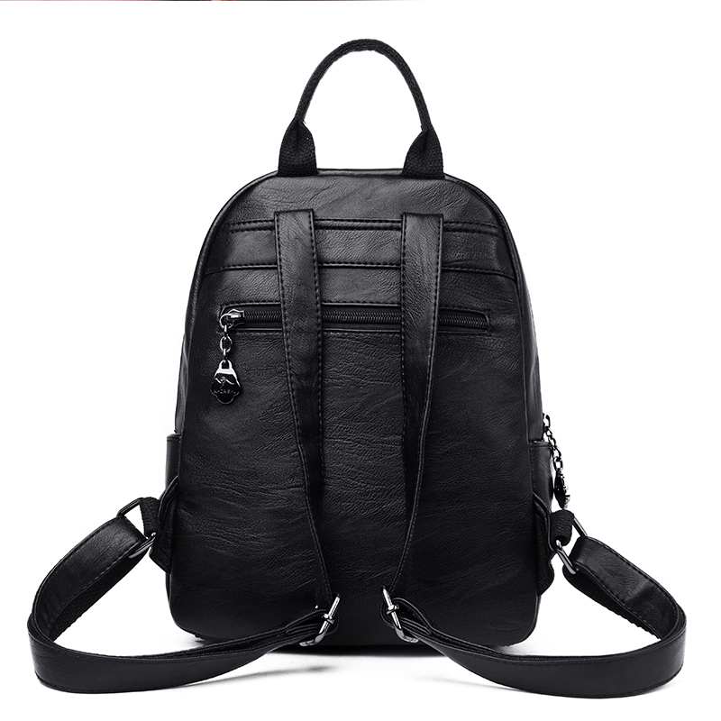 Brand New Women Backpack Women 39 s PU Leather Backpacks School Bag for Teenagers Girls New Fashion backpack Travel shoulder Bags in Backpacks from Luggage amp Bags