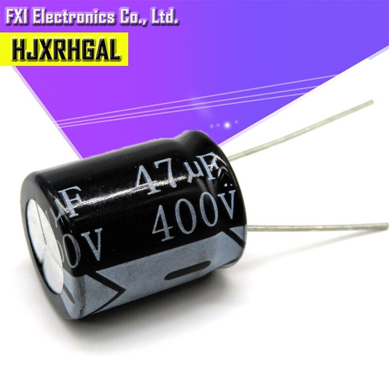 5 шт. 400V47UF 16*22 мм, 47 (Европа) мкФ 400V 16*22 электролитический конденсатор с алюминиевой крышкой, новый оригинальный
