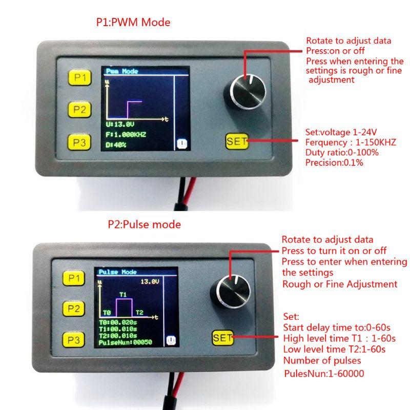 Signal Generator PWM Pulse Adjustable Module Sine Wave Generating 1-1000Hz 4-20mA 2-10V Multiple Modes