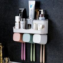 Полка для хранения зубных щеток для ванной комнаты, пробивной держатель для зубной пасты и щетки, настенный держатель для зубной чашки