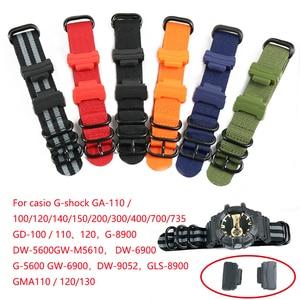 Nylon strap men's For Casio G-SHOCK G-8900 GA-100 110 120 GD-100 110 DW-5600 connection kit DW-5600 GW-M5610 DW6900 watch band(China)