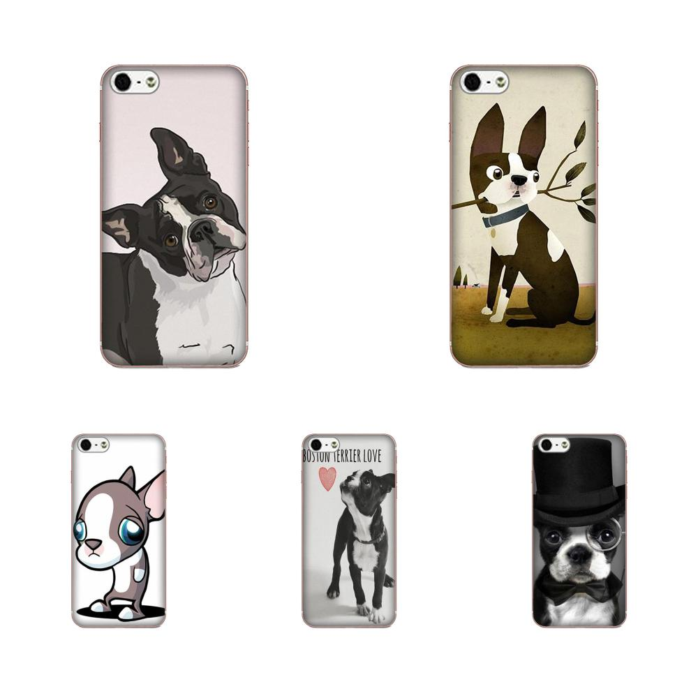 For <font><b>Samsung</b></font> Galaxy A10 A20 A20E A3 A40 A5 A50 A7 J1 J3 J4 J5 J6 <font><b>J7</b></font> 2016 2017 2018 Soft TPU Shockproof Boston Terrier <font><b>Dog</b></font> Puppies image