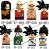 KT1007 KF6142 Anime Cartoon Goku Vegeta Dragon Ball Z Buliding Blocks Bricks Mini Action Figures Kids Assembl Toys Birthday Gift