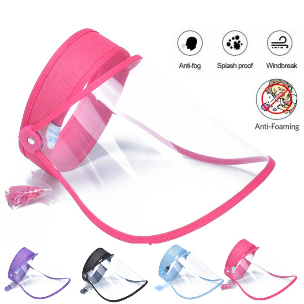 Clear Anti Droplet Dust-proof Full Face Cover Mouth Mask Protective Anti-fogged Visor Shield Droplet Face Shield Washable 1Pc