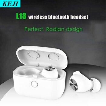 L18 TWS 5,0 Bluetooth Kopfhörer 3D Stereo Sound Noise Reduktion Wireless Headset Mit Smart Control Dual Mikrofon Lade Box