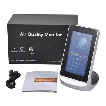 Air Quality Detector 4.3 Inch Digital LCD Display Air Quality Monitor Test PM2.5 HCHO/TVOC AQI Indoor Gas Detector цена 2017