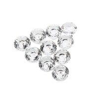 10 pces 30mm diamante de cristal de vidro porta gaveta armário móveis lidar com botão parafuso|Puxador de gaveta| |  -