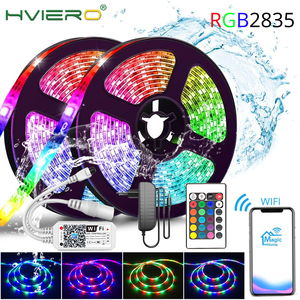 WIFI RGB LED Strip Tape SMD 2835 5/10M DC 12V Waterproof RGB LED Lamp Diode Ribbon Flexible For Home Christmas Decorative Lights