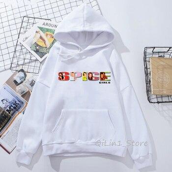 High quality Pop Girl BandSpice Girls hoodie woman vogue vintage 90s sudadera mujer streetwear hooded sweatshirt