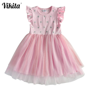 Kids Sleeveless Tutu Drsses for Girls Party Dress Star Printed Birthday Tutu Dresses Children Casual Wear 3 to 8 Years Vestidos
