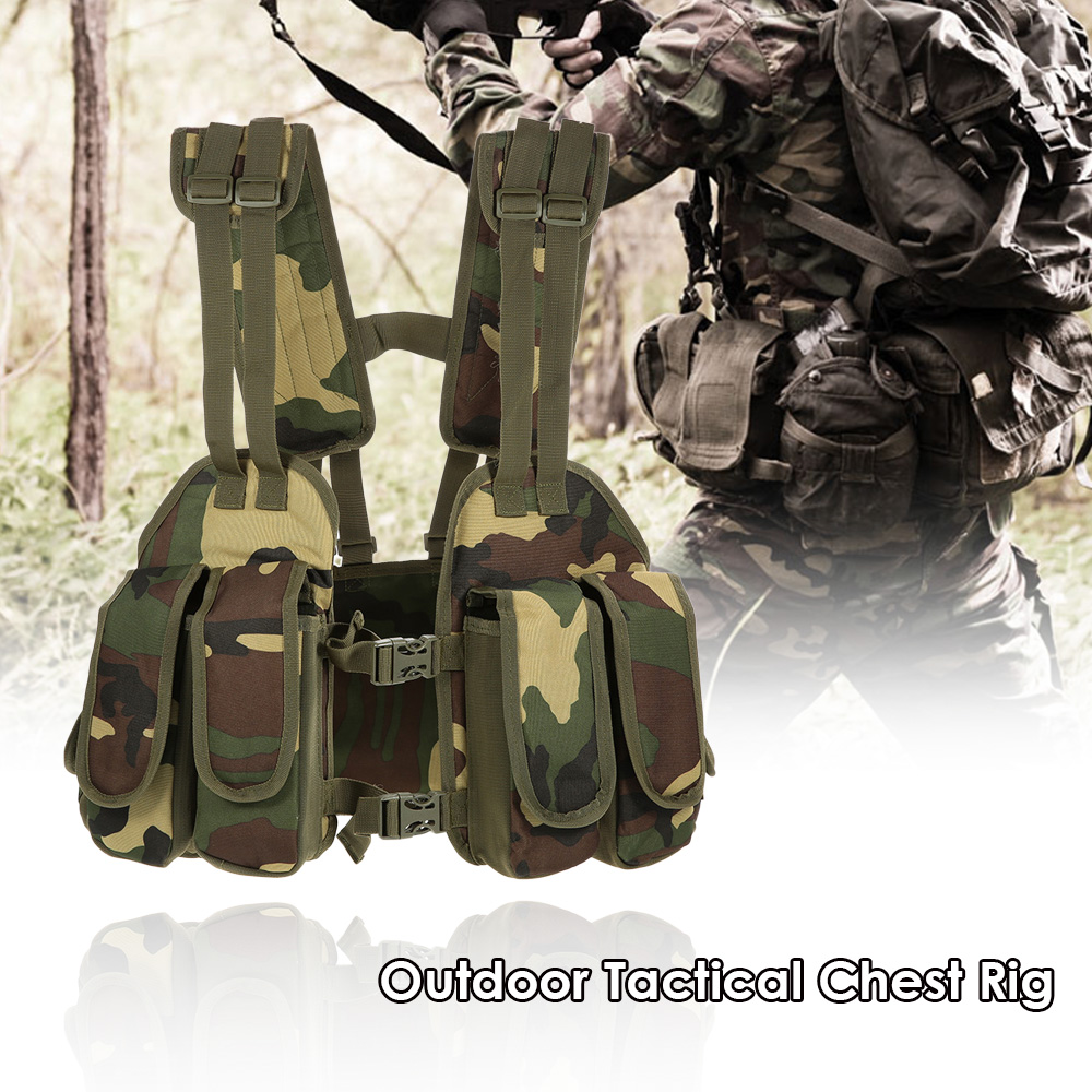 Magazine Holder Bag Platform Tactical Vest Outdoor Tactical Chest Rig Adjustable Padded Modular Military Vest Mag Pouch