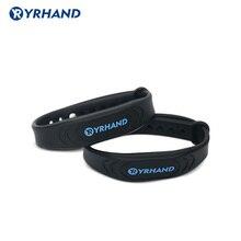 2 Stuks 13.56Mhz Rfid Ic Card Zwart Smart Polsbandjes Armbanden Voor Rfid Deur Sloten